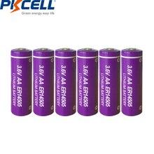 6pcs/lot PKCELL 3.6V ER14505 14505 2400mah AA LiSCLO2 Battery Superior LR6 R6P 1.5V Batteries For GPS Tracking Cameras