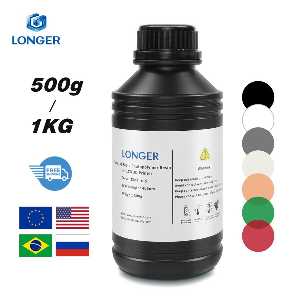 LONGER 405nm UV Resin for Orange 10 & Orange 30 3D Printer Printing Material 500g/1KG Volume Compatible for Photon & Photon S