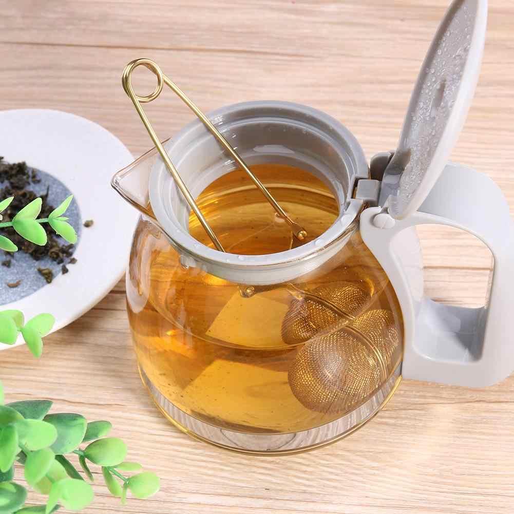 Filtro de Infusor de té de acero inoxidable dorado