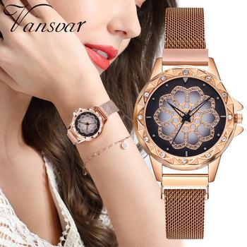 2020 Rose Gold Watches Women Bracelet Luxury Lucky Diamond Ladies Dress Magnetic Quartz Wristwatch relogio feminino reloj mujer