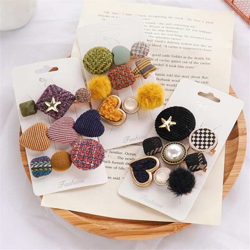 2019 Winter New Plush Fashion Hairpins Women Girls Hair Clips Barrettes Accessories Hair Ornament Hairclip Hairgrip Headdress