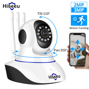 Hiseeu Home Security 1080P 3MP Wifi IP Camera Audio Record SD Card Memory P2P HD CCTV Surveillance Wireless Camera Baby Monitor 1080p 2mp wireless indoor wifi surveillance camera two way audio cctv security ip camera home dome baby monitor support sd card