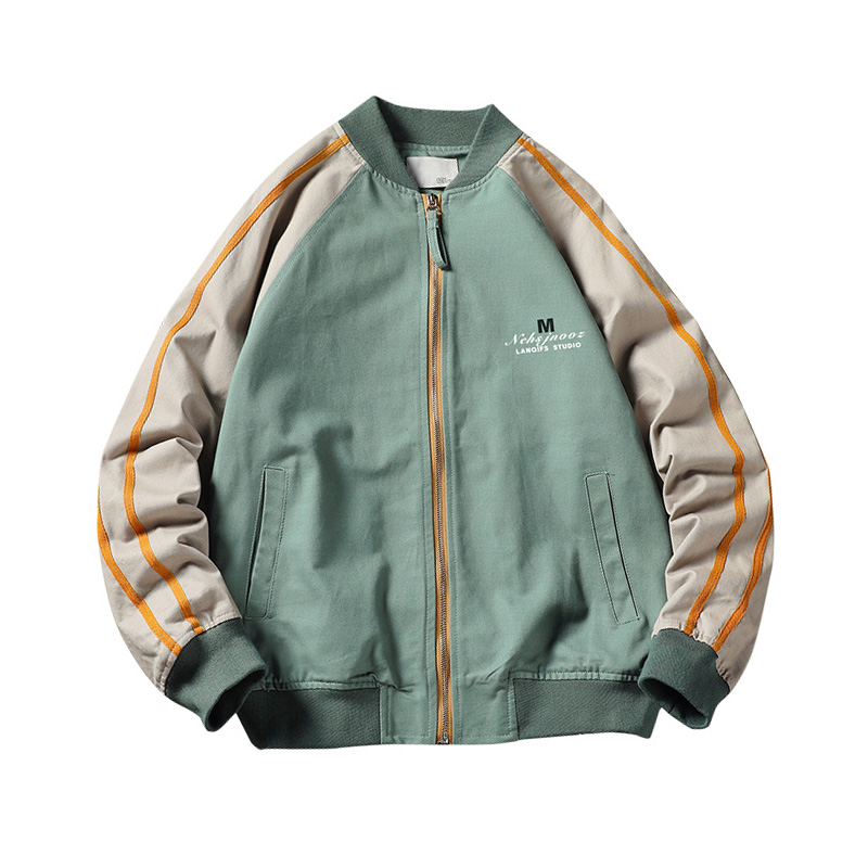 Men's Autumn Casual Baseball Jacket Coat Outwear Breathable Zipper Patchwork Outdoor Streetwear Hip Hop Male Clothing ,GA421