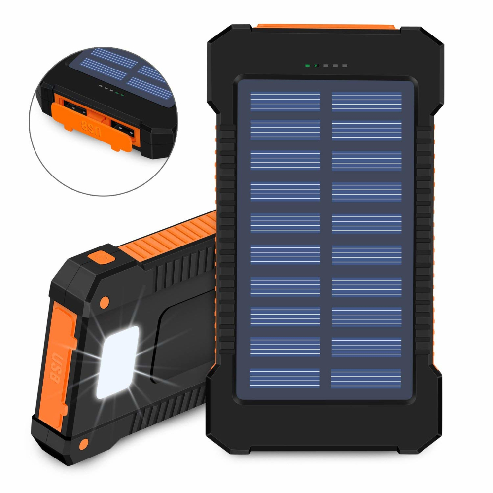 Double USB Solar Power Bank 30000mAh Solar Charger External Battery Portable Charger Bateria Externa Pack For Smart Phone