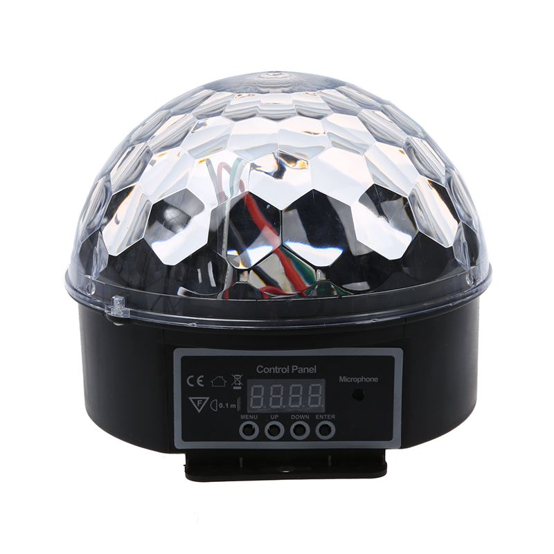 ELEG-DMX512 Lighting Scene DJ Disco Bulb LED RGB Lamp Crystal Ball Spotlight Soiree Club Bar