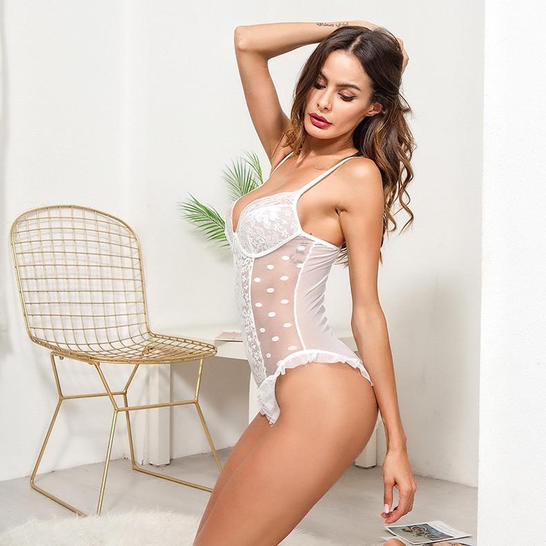 Пары сексуальная одежда к нижнему белью Униформа наведенная или плотно Sao Onesie открытый файл набор для страсти