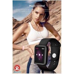 Image 3 - Homme femme montre intelligente Bluetooth Smartwatch étanche pour Apple montre IPhone Android montre moniteur de fréquence cardiaque Fitness Tracker