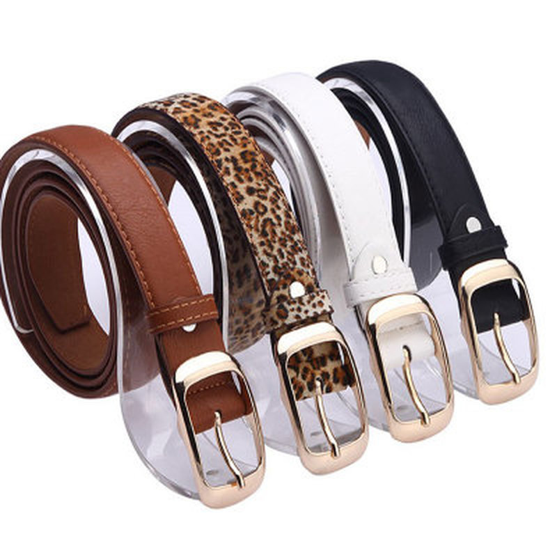 2020 New PU Leather Belt Women Pin Buckle Belts Black Leopard Belt Strap Waist Belts Women Jeans Pants