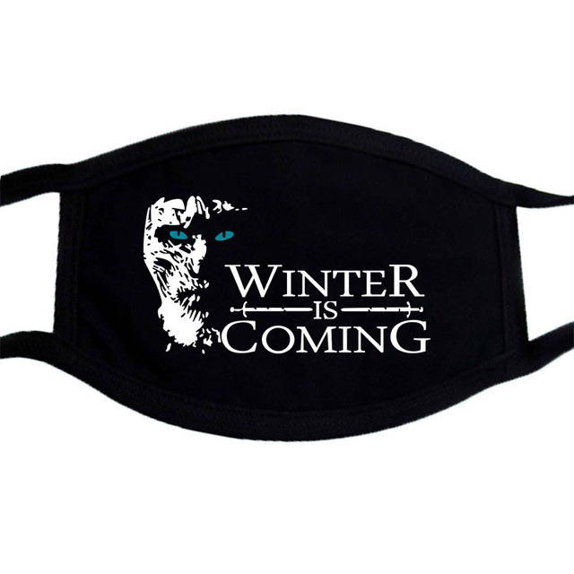 Winter Dustproof Mouth Face Mask Kpop Dust Mask Game of Thrones And Viking Masks Black Keep Warm Washable Mask 2