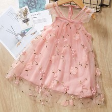 Toddler Baby Girls Dress Fly Sleeve Lace Embroidery Floral TuTu Princess Dress Summer Cute Dress For Baby Girl vestido emmababy cute princess dress newborn toddler baby girls unicorn lace tutu fly sleeve romper jumpsuit fancy dress outfits costume
