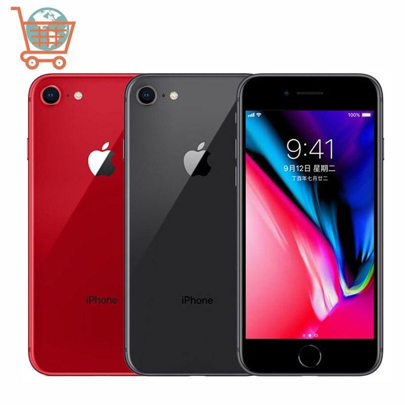 Разблокированный телефон Apple iPhone 8, 64 ГБ/256 ГБ, шестиядерный, 4G LTE, 3D Touch ID, 4,7 дюйма, сканер отпечатка пальца, IOS, Apple, оригинал