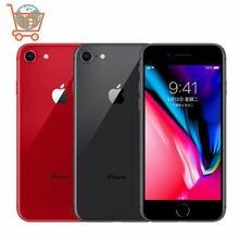 Apple – authentique smartphone iPhone 8 64 go/256 go débloqué, téléphone portable, hexa-core, 4G LTE, écran tactile 3D de 4.7 pouces, identification par empreinte digitale, IOS