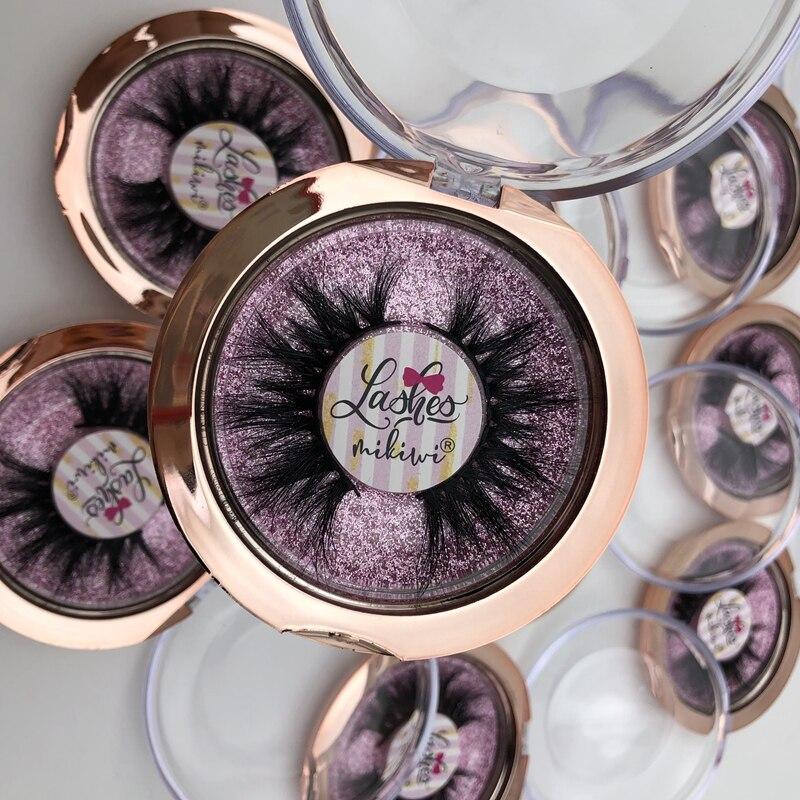 Wholesale 50 Pairs Rose Gold Case Eyelashes 3D Mink Lashes Dramatic Lashes Custom Sticker Logo Private Label Lashes