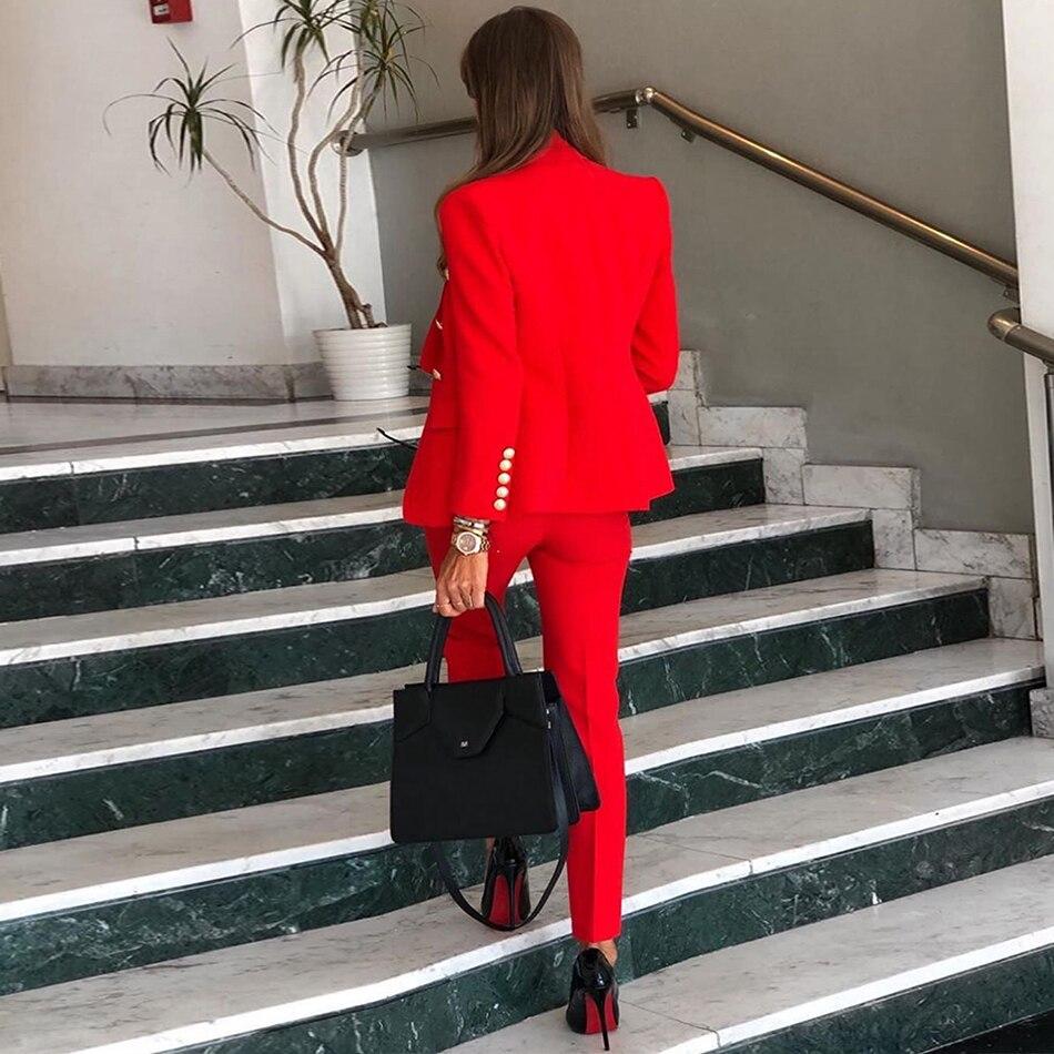 Ocstrade-Women-2-Piece-Set-Winter-2019-Red-Blazer-Buttons-Office-Lady-Blazer-Jackets-Long-Sleeve