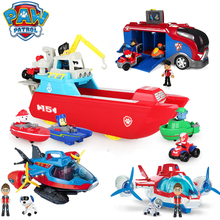 Paw Patrol toys set Toys patrol dog aircraft boat Yacht Ferry Bus Rescue Team Toy Action Figures child for toy gift