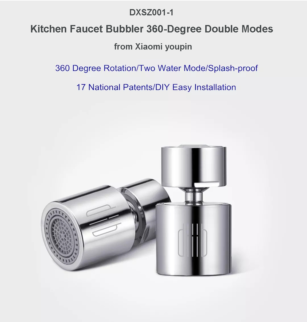DXSZ001-1 Kitchen Faucet Bubbler 360-Degree Double Modes 2-flow Splash-proof from Xiaomi youpin
