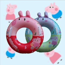 New Inflatable childs float swimming circle baby pool Piscina Pig rubber ring PVC boats inflatable buoy water toys