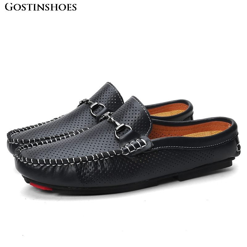 Men Casual Shoes Moccasins KPOCCOBKN Shoes Slip-on Leather Shoes Men Leather Shoes