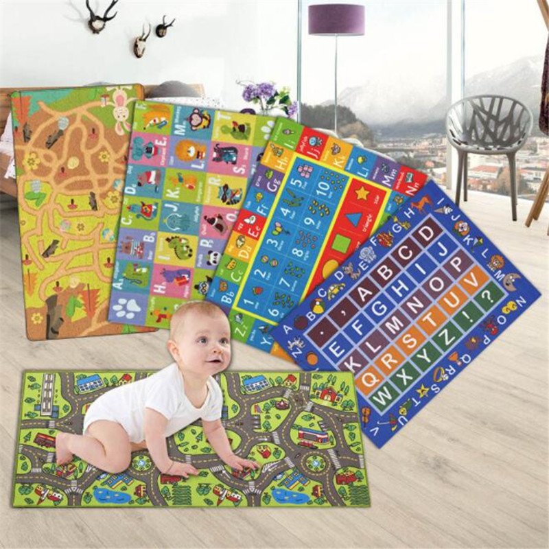 Soft Play Mat Baby Kids Gym Play Rug Crawling Blanket Nursery Play Tent Carpets