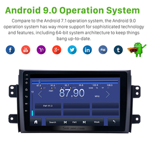 Image 5 - Seicane Car Radio For 2006 2012 Suzuki SX4 Android 9.0 9 Inch 2Din HD Touchscreen GPS Multimedia Player Support Bluetooth WIFI