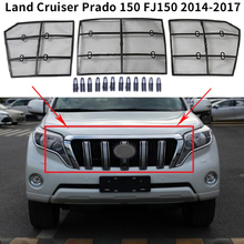 Para toyota land cruiser prado 150 fj150 2014 2017 carro inseto sning malha grade dianteira inserção net