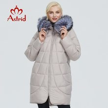 Winter Jacket Clothing Women Parka Astrid Design Thick Fashion Cotton with Long Fox-Fur-Collar