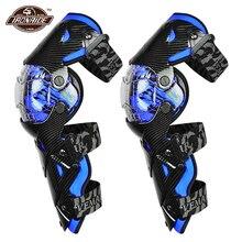 Azul motocross joelheiras da motocicleta joelheira guarda moto equipamentos de proteção motocross motocicleta joelho protetor de segurança guardas