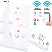 Light-Tuya Relay Touch-Switch Szaoju Smart-Life-App Amazon Alexa Timer-Module Wall Wifi Rf