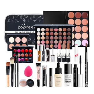 Наборы для макияжа, набор косметики, тени для век, губная помада, карандаш для бровей, блеск для губ, Кисть для макияжа, пудра, пышный подарок ...