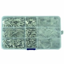 270Pcs 2.8/4.8/6.3mm Crimp Terminals Insulated Male Female Wire Connector Electrical Wire Spade Connectors Kit