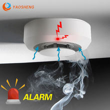 Detector de humo inalámbrico para seguridad del hogar, sistema de alarma con sensor de vida inteligente, RF, 433MHz