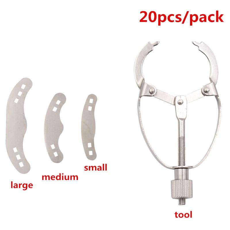 20pcs/pack 3 Size Dental Matrix Bands Tofflemire Stuck Including 3 Sizes Dentistry Lab Equipment Dental Tool Instrument