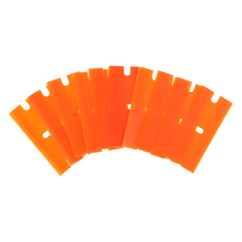 10Pcs/Set Double-Edged Plastic Blades Replacement Scraper Window Car Glass Glue Tape Remover Safety Sticker Decals Removal Tool image