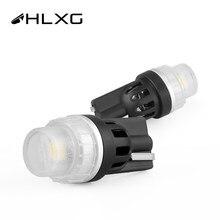 HLXG T10 W5W LED ampoules de rechange 12V voiture RV intérieur dôme carte porte courtoisie coffre plaque d'immatriculation feux de dégagement Marine
