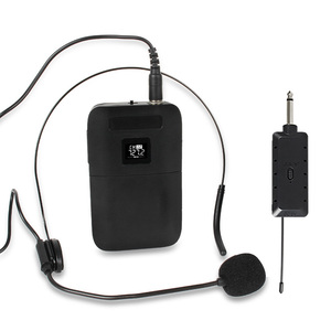 Image 5 - הוראת קול מגבר אוזניות צווארון קליפ נייד אוניברסלי משדר מקלט HD צליל שלב אלחוטי מיקרופון להראות
