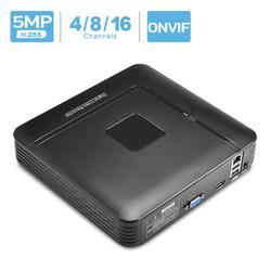 Besder h.265 max 5mp saída cctv nvr 16ch 5mp/8ch 4mp/4ch 5mp segurança gravador de vídeo h.265 movimento detectar onvif p2p cctv nvr