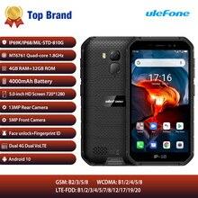Telefono cellulare impermeabile robusto IP68 da esterno 4GB RAM 32GB Android10 Smartphone 4G LTE NFC telefono Ulefone Armor X7 Pro cellulare