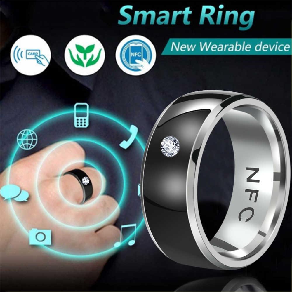 NFC Smart Cincin Multifungsi Cerdas Memakai Menghubungkan Ponsel Android Peralatan Cincin