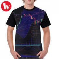 Camiseta de mercado de valores, Camiseta estampada de arte de concepto SPX500, camiseta estampada informal de talla grande