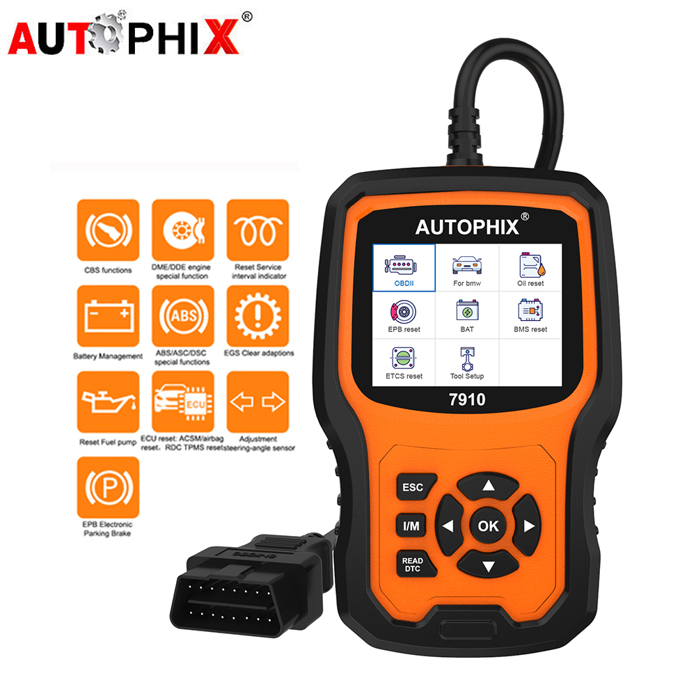 Autophix 7910 для BMW MINI OBD2 масло сканера батарея EPB SAS подушка безопасности TPMS сброс OBDII сканер все системы автомобиля диагностические инструменты