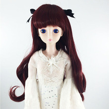 BJD sd 1/3 1/4 1/6 1/8  ye Luoli 60cm toy doll high temperature fiber wig with long curly hair doll wig doll accessories кукла bjd ye luoli 60 1 3 sd bjd