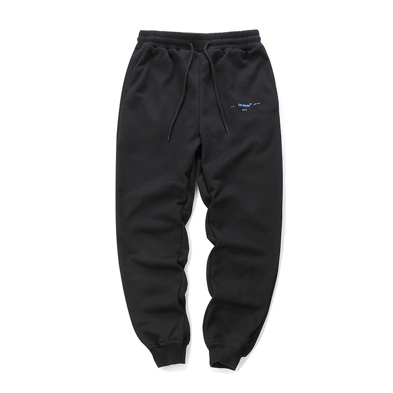 2018 Autumn And Winter Offwhite Autumn And Winter Ow Qualified Color Gradient Couples Casual Sweatpants Men And Women Trousers