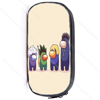 Functionary game among us pencil case kids boys cartoon pen bag students pencil box stationery storage bag girls cosmetic case