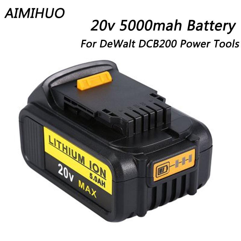 20V 4000mAh/5000mah for Dewalt DCB200 Rechargeable Li ion Battery 20V MAX Replacement for DeWalt DCB205 DCB201 DCB203 Power