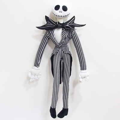 The Nightmare Before Christmas Jack Skellington Sally Black Skeleton Skull Stuffed Plush Doll Halloween Gift