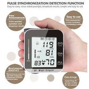 Image 4 - OLIECO Elektrische Handgelenk Blutdruck Monitor Stimme Rundfunk 2 Person Daten Speicher Große LCD Bildschirm Tonometer Blutdruckmessgerät