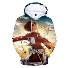 Свитшот унисекс с капюшоном уличная одежда в стиле «атака на