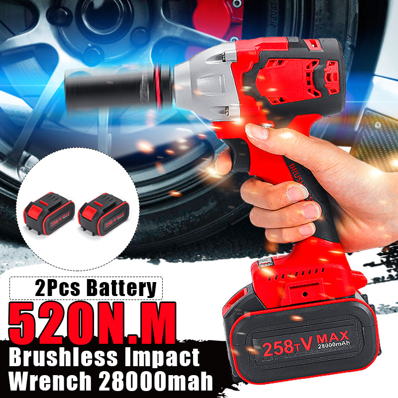 18V 1//2inch 520Nm Cordless Impact Wrench Body Brushless Replacing Spare Parts