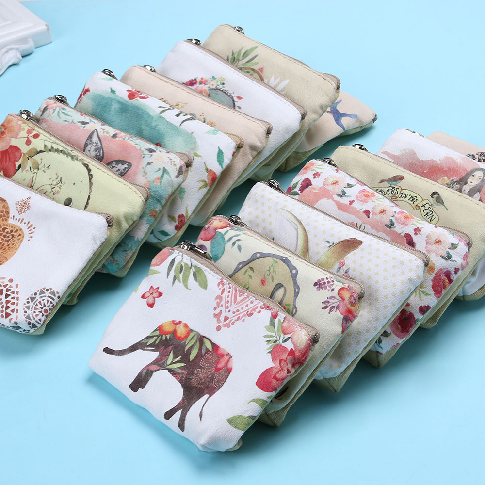 New Animal Cartoon Cute Coin Purse Wallet Holder Case Women Small Canvas Bags Cartoon Money Key Card Holders Pouch Zipper Bag