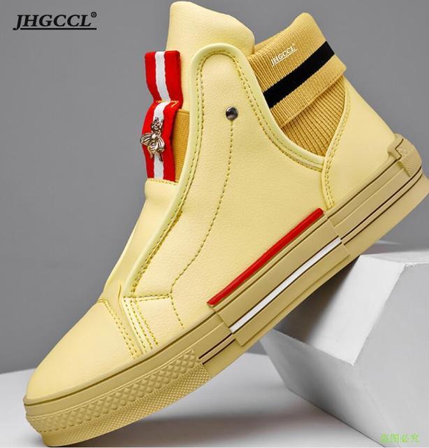 Zapatos de tabla de abeja para hombre y mujer, de Corea del Sur de diseñador de marca, informales, planos, de talla grande, Blanco pequeño, A5 2